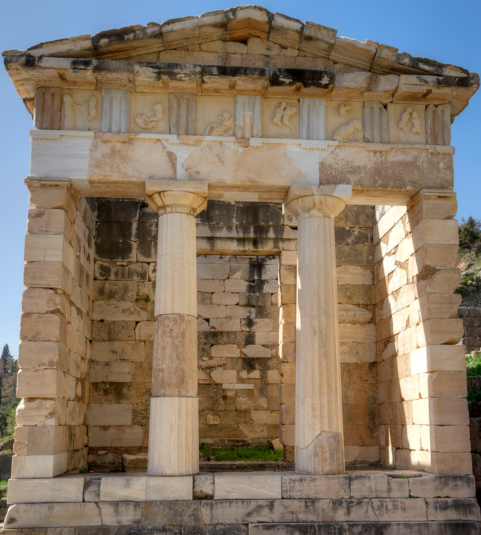 facade of the athenia treasury