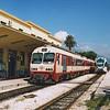 OSE class A6500 narrow gauge DMU 1510 at Korinthos, Greece on the 6th October 2005.
