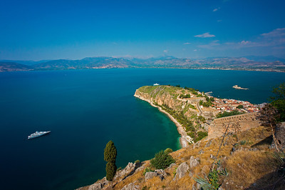 Argolikos Bay from Palamidi Castle Nafplio