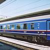 Greek 2nd class car 73 73 20-96502-0at Thessaloniki.