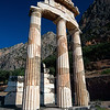 remains of the tholos of Athena Pronaea at Delphi