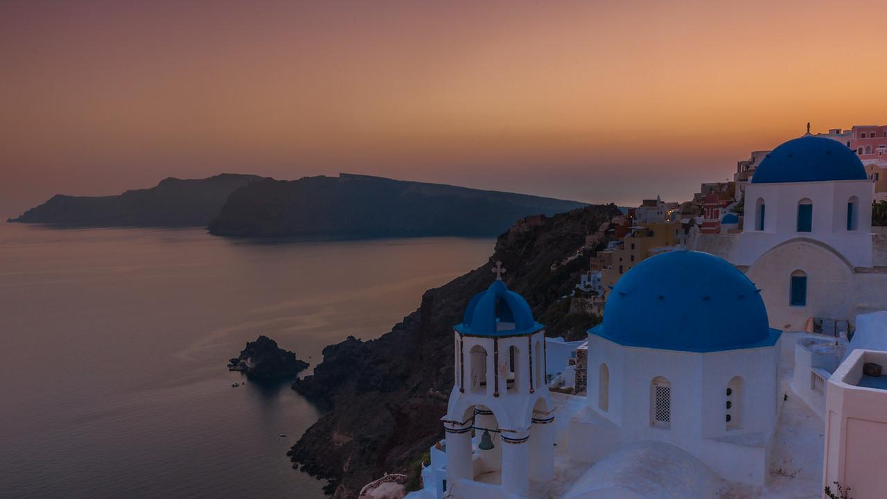 Blue Domes Oia Santorini