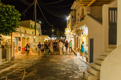Mykonos Streets at Night