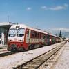 OSE class A6500 narrow gauge DMU 6505 at Agioi Anargiroi.