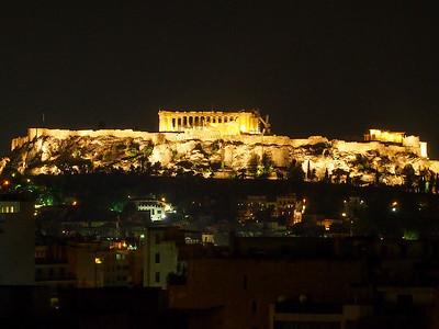 Athens Acropolis at night