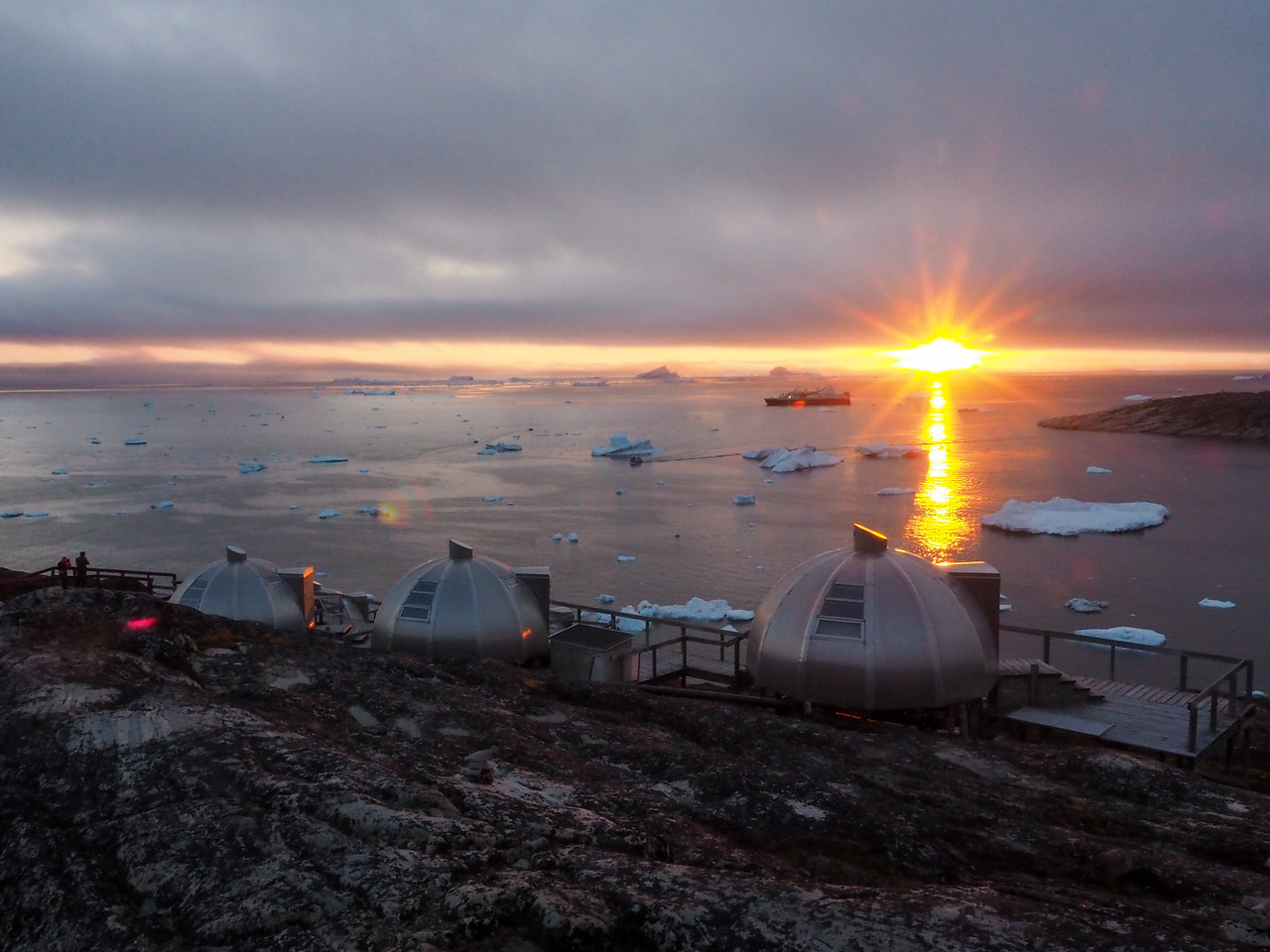 Sunset at Hotel Arctic in Ilulissat