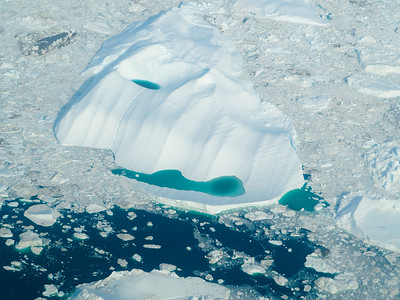 Flying over the Ilulissat Icefjord