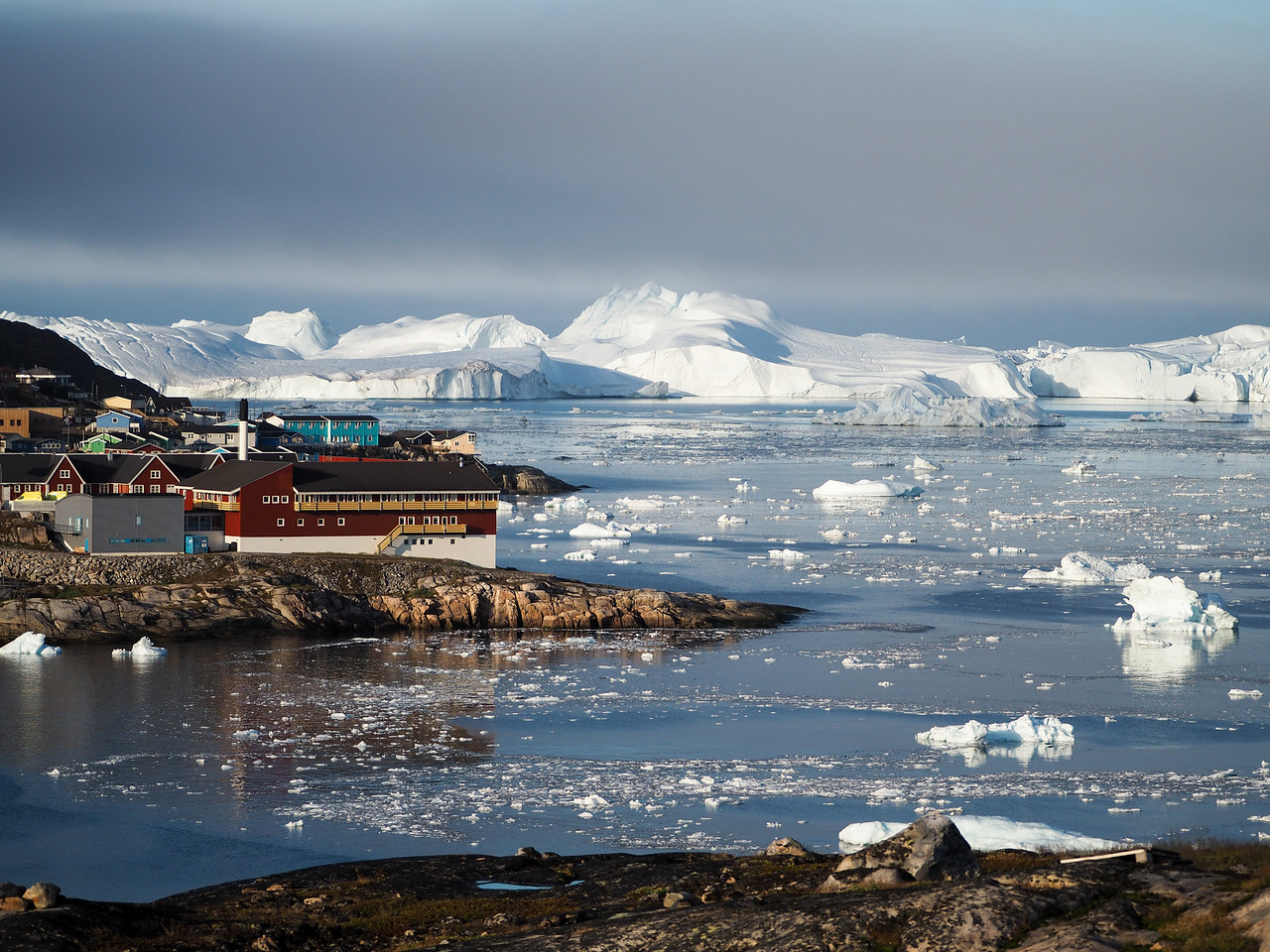 View of Ilulissat from Hotel Arctic