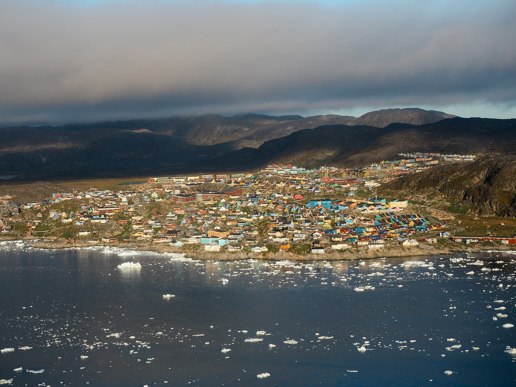 Ilulissat from above