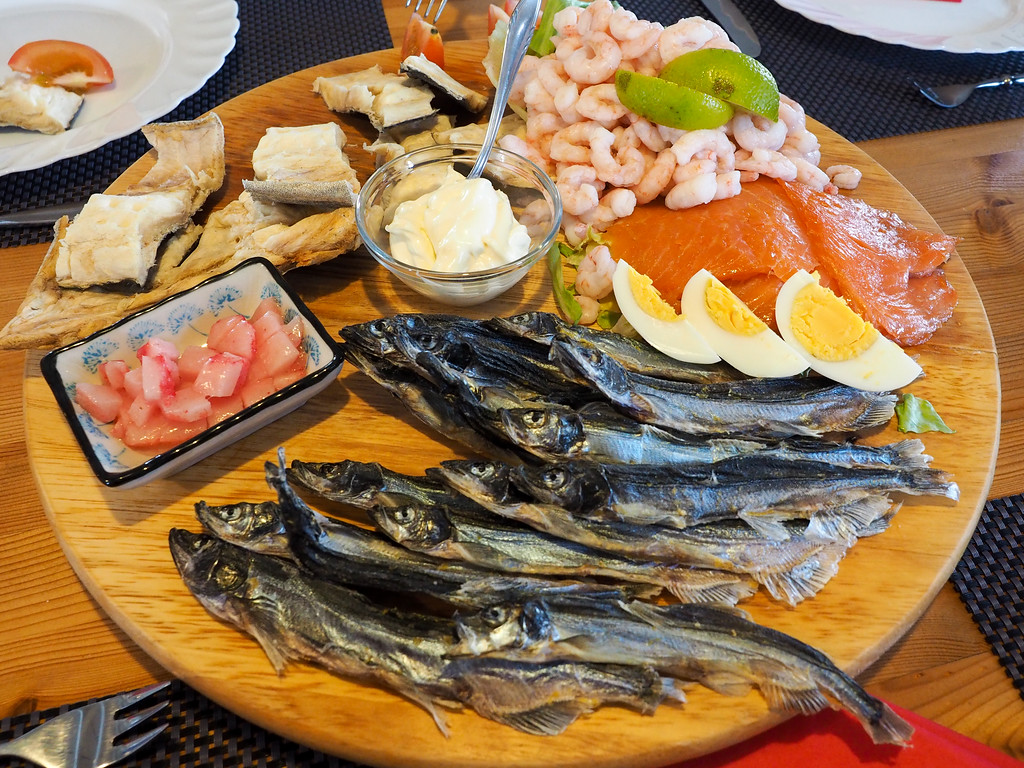 Seafood platter in Greenland