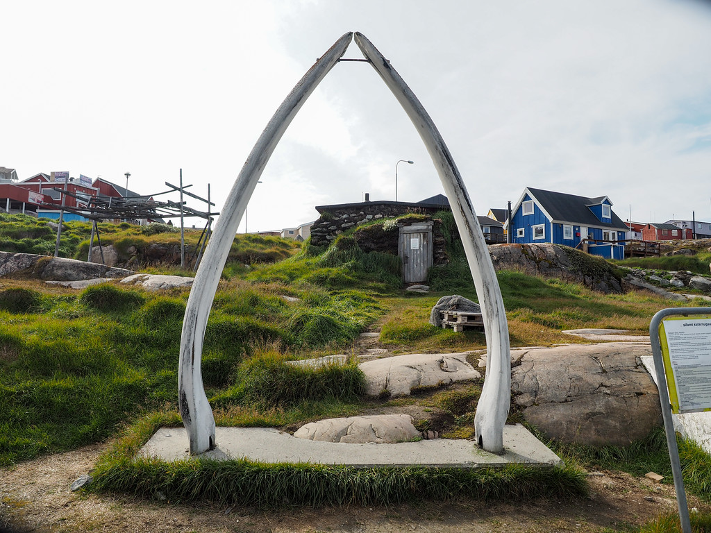Fin whale jaw bones in Ilulissat