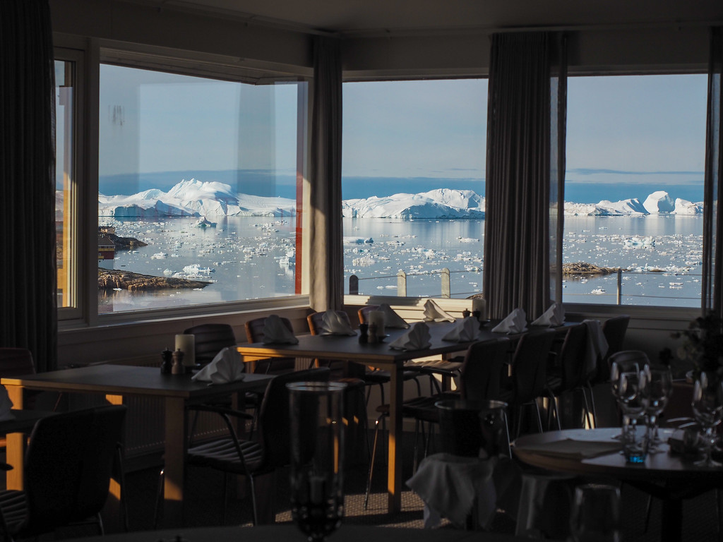 Dining room views at Hotel Arctic