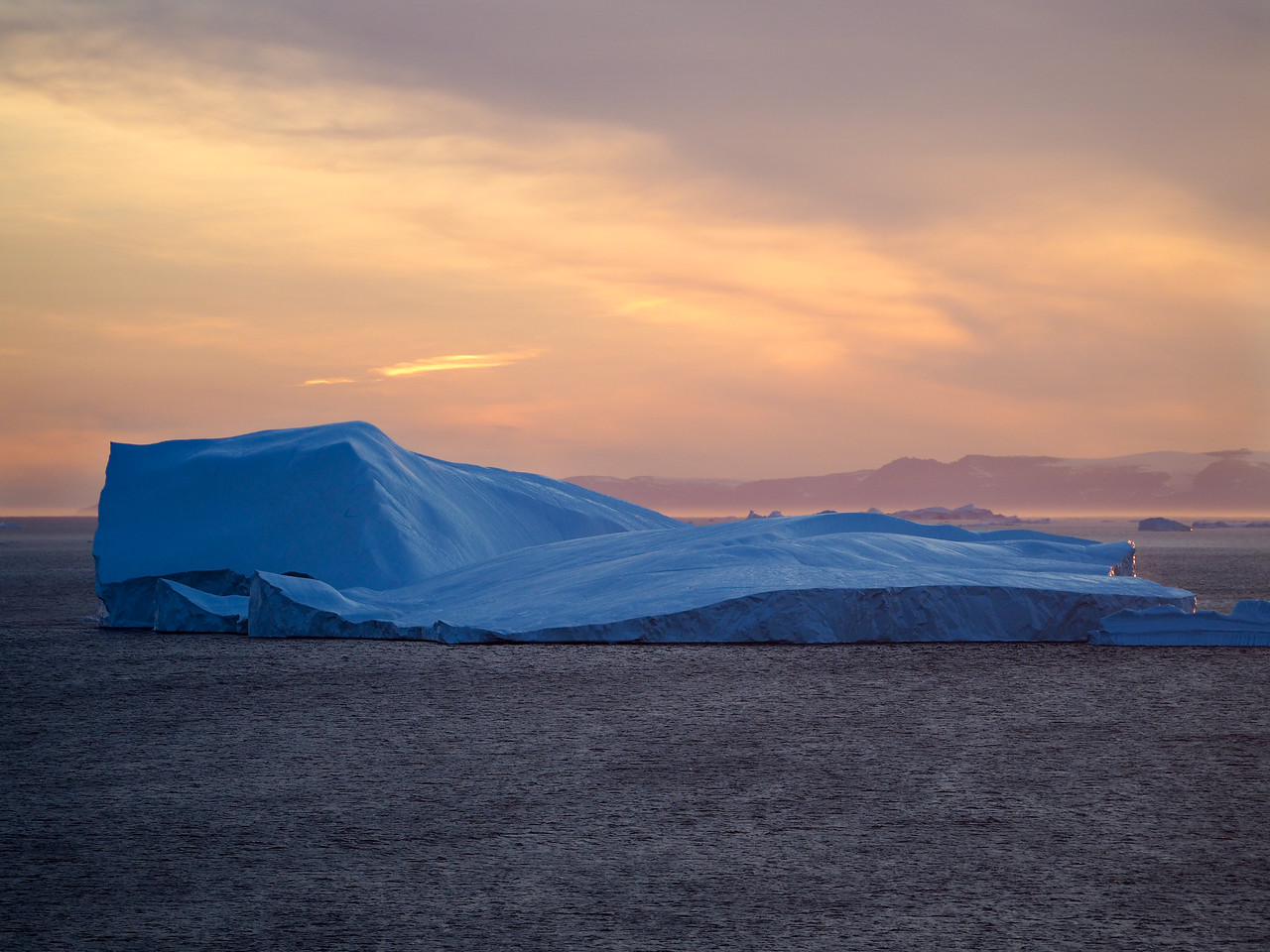 Iceberg at sunset in Ilulissat