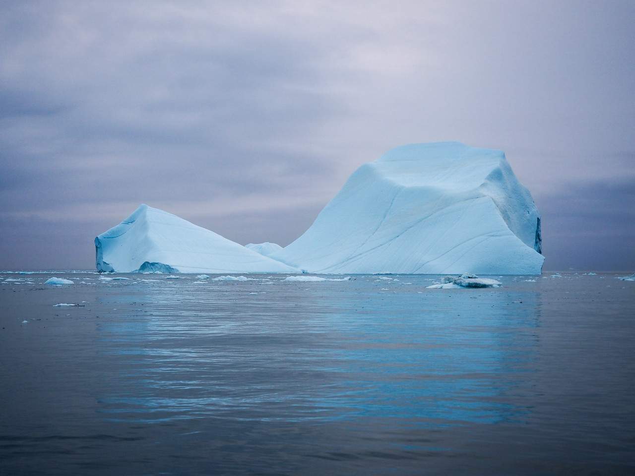 Iceberg at sunset on the Ilulissat Icefjord