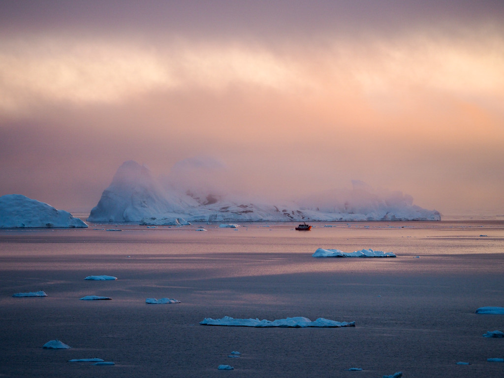 Sunset on the Ilulissat Icefjord