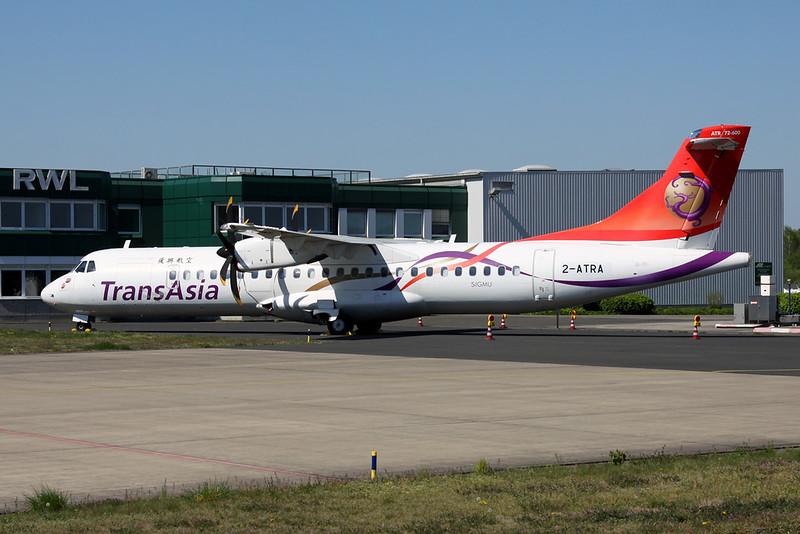 """2-ATRA Aerospatiale ATR-72-600 """"Leasing Compnay"""" c/n 1318 Moenchengladbach/EDLN/MGL 19-04-19 """"TransAsia Airways"""""""