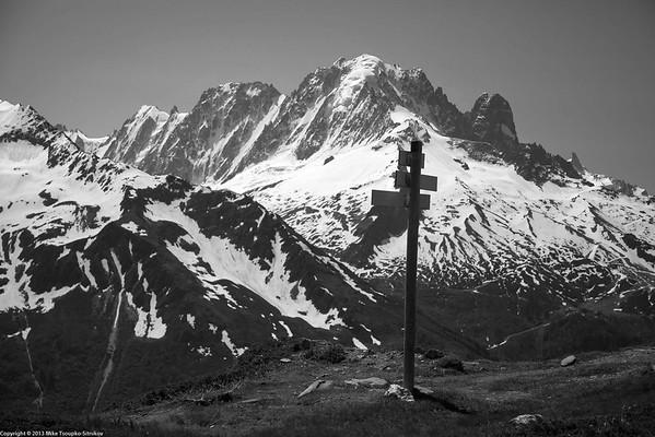 Ascent from Argentiére to Col de Balme