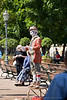 A street performer in Helsinki Finland - A modern European city