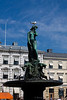A Statue erected in 1908 promoting peace in Helsinki Finland - A modern European city