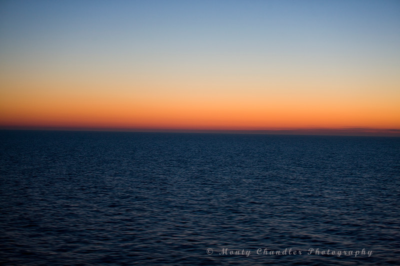 The midnight sun - taken at 2AM on the trip from Sweden to Finland.  This is as dark as it gets.
