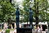 Statues in the park in  Helsinki Finland - A modern European city