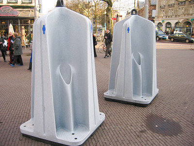 There are (extremely) public toliets in Amsterdam, Holland.  Men only, as you can see.