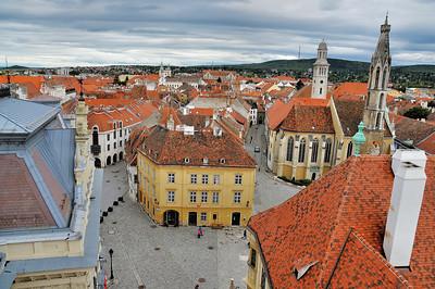 Sopron - Vue de la ville depuis la tour de la Lanterne