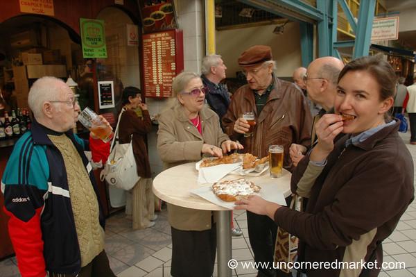 Langos at Lehel Market - Budapest, Hungary