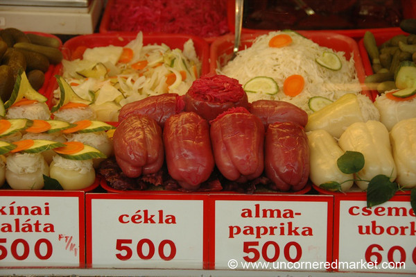 Pickled Stuffed Vegetables - Budapest, Hungary