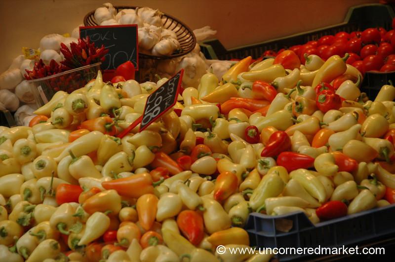 Hungarian Peppers, Lehel Market - Budapest, Hungary