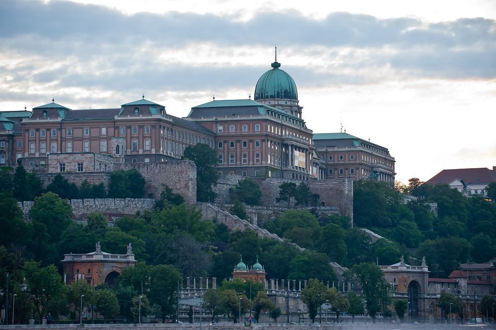 Royal Palace From The Danube