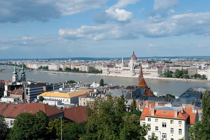 View of Pest from Matthias Church