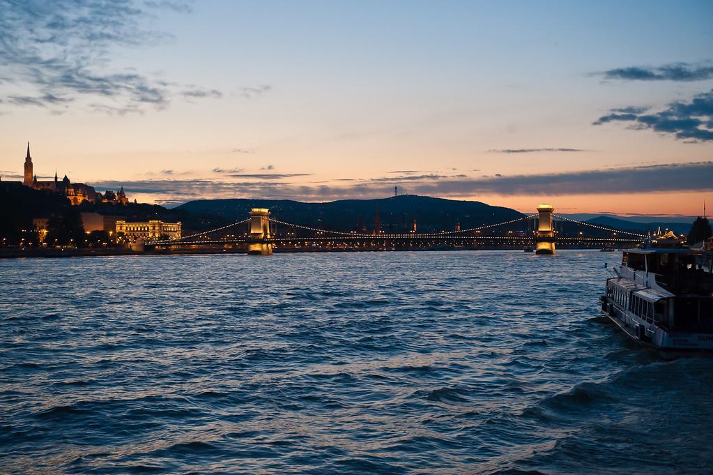 Chain Bridge at Twilight