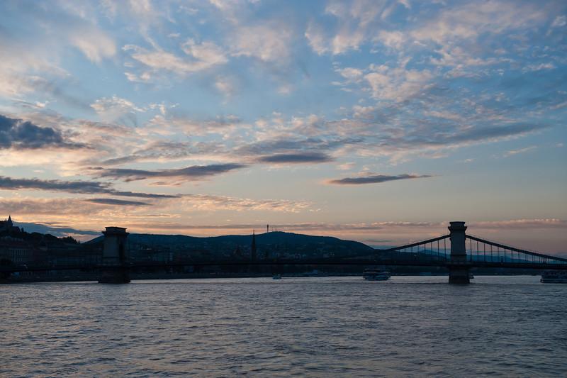 Chain Bridge at Sunset