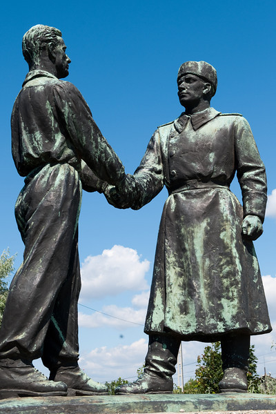 Soldier and Hungarian Worker - Comrades