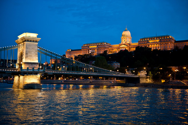 Royal Palace at Twilight - Chain Bridge