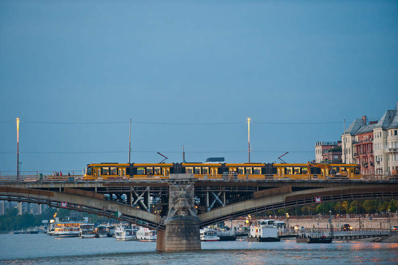 Tram on Margaret Bridge