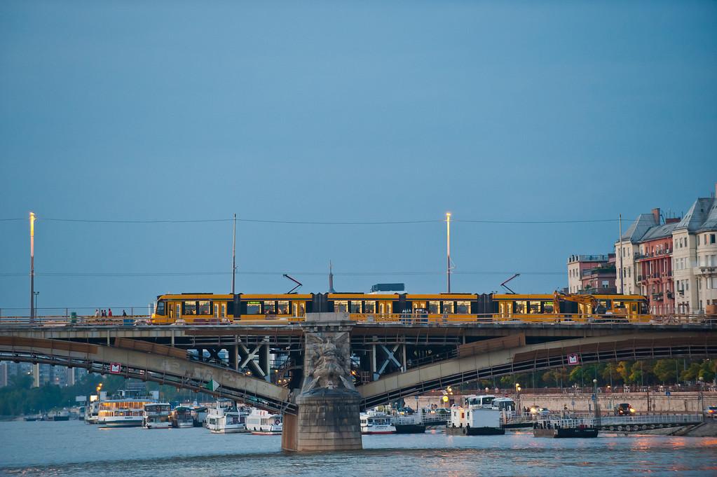 Tram on Margaret Bridge