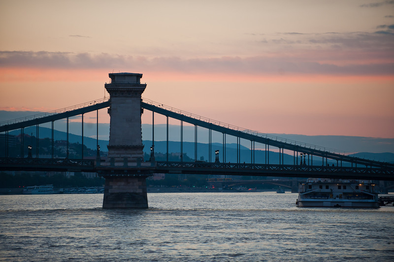 Chain Bridge at Sunset
