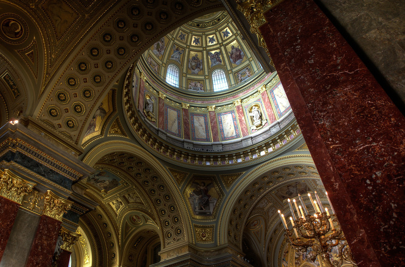 Inside the St. Peter's Basilica in Budapest, Hungary
