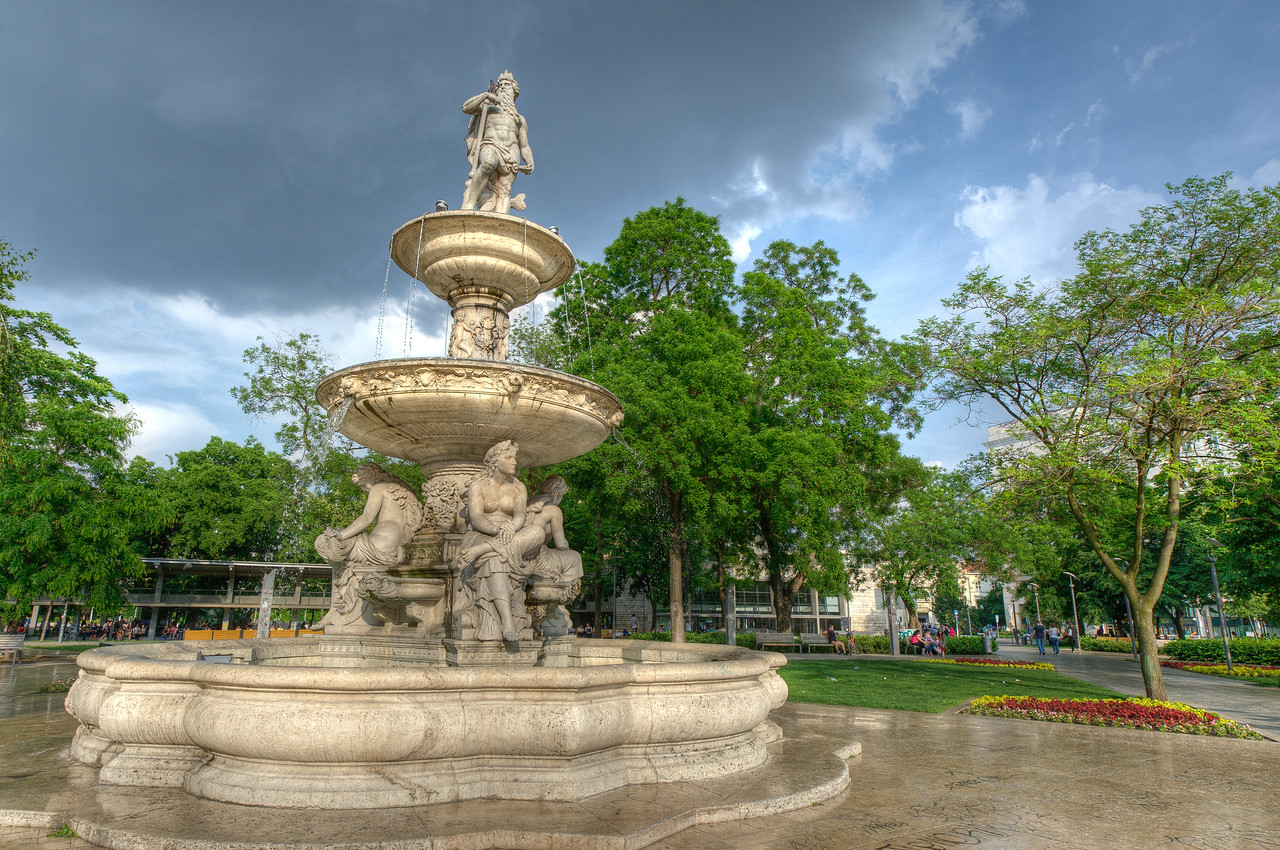 Danubius Fountain in Budapest, Hungary