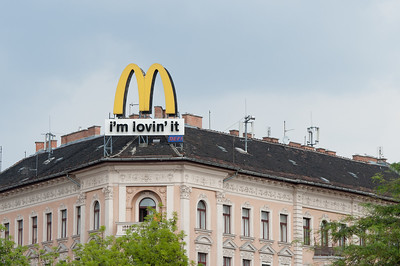 McDonald's sign spotted in Budapest, Hungary