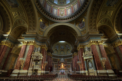 Inside St. Stephen's Basilica - Budapest, Hungary