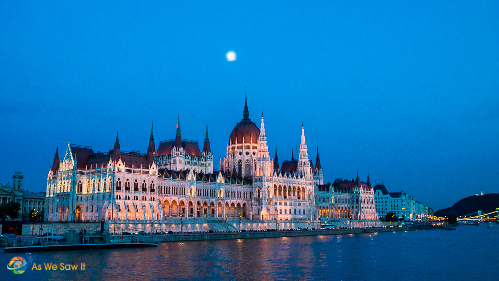 And yes, it did. Here is one of Dan's photos of an illuminated Budapest on our evening Danube cruise departure.