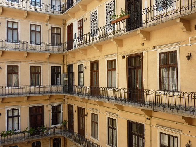 Apartment Balconies - Budapest