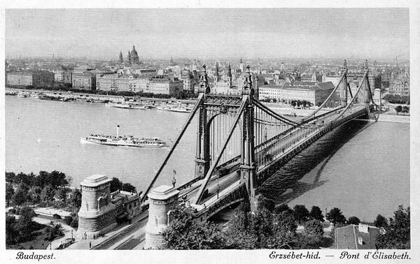 Old postcards of Budapest – Elisabeth Bridge