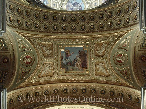 Budapest - St Stephen's Cathedral - Ceiling