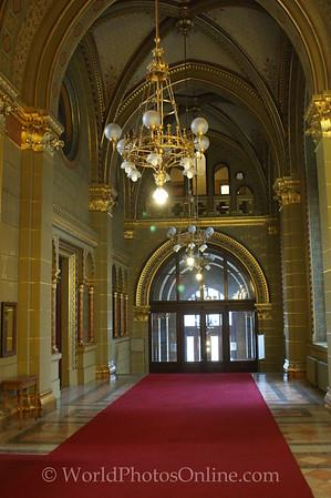 Budapest - Parliament Building - Main Floor Cooridor