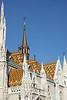Budapest - Castle Hill - St Matthias Church - Roof Detail