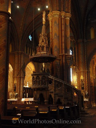 Budapest - Castle Hill - St Matthias Church - Main Altar